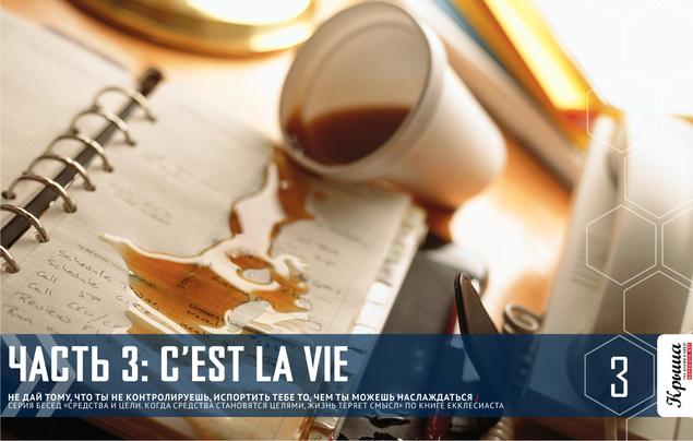 СРЕДСТВА И ЦЕЛИ ЧАСТЬ 3: C'est la vie